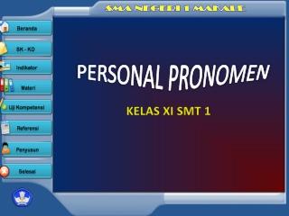 Personal Pronomen