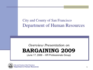 City and County of San Francisco Department of Human Resources