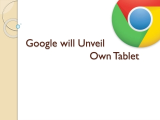 Google will Unveil Own Tablet