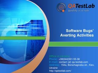 Software Bugs' Averting Activities