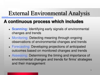 what is the importance of environmental scanning