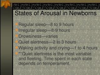 States of Arousal in Newborns
