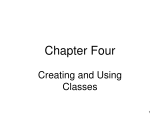 Chapter 2:  Creating Classes