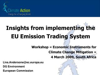 Insights from implementing the EU Emission Trading System