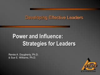 Power and Influence:  	Strategies for Leaders