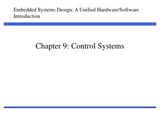 Chapter 9: Control Systems