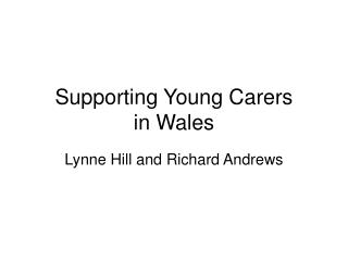 Supporting Young Carers in Wales