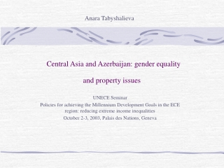 Gender and Male Involvement