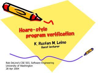 Hoare-style     program verification