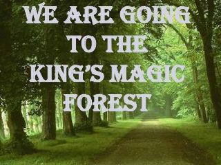 we are going to the King's Magic Forest