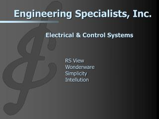 Electrical & Control Systems