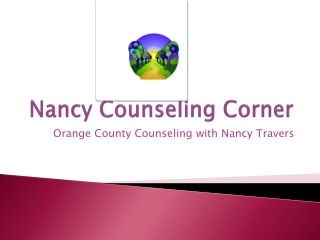Nancy Counseling Corner