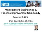 Management Engineering  Process Improvement Community