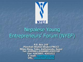 Nepalese Young Entrepreneurs' Forum (NYEF)