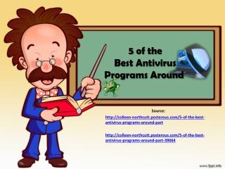 5 of the Best Antivirus Programs Around