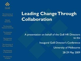 Leading Change Through Collaboration