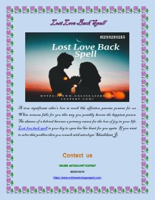 Lost Love Back Spell