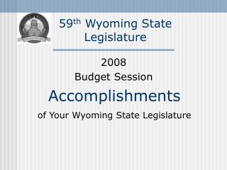 59th Wyoming State Legislature