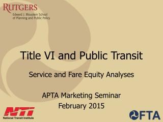 Title VI and Public Transit