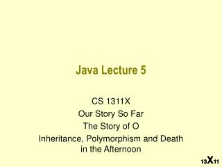 Java Lecture 5