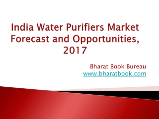 India Water Purifiers Market Forecast and Opportunities, 2017