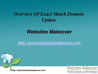 Overview Of Exact Match Domain Update