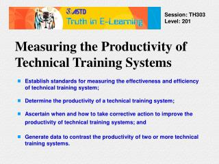 Measuring the Productivity of Technical Training Systems