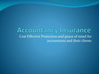 Accountancy Insurance - audit shield