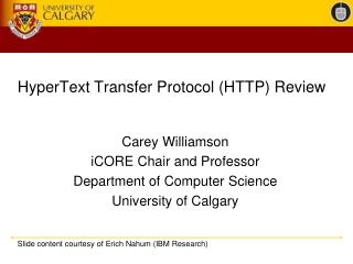 HyperText Transfer Protocol (HTTP) Review
