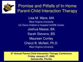 Promise and Pitfalls of In-Home Parent-Child Interaction Therapy