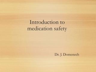 Dr. J. Domenech