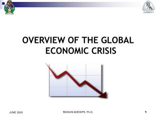 OVERVIEW OF THE GLOBAL ECONOMIC CRISIS