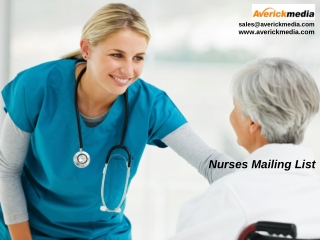 Generate high Response Rate from Marketing Campaigns by Nurses Mailing List