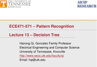 ECE471-571 – Pattern Recognition Lecture 13 – Decision Tree