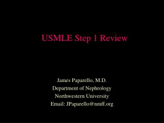 USMLE Step 1 Review
