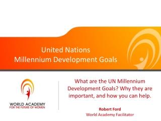 UN Millenium Development Goals