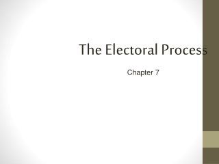 The Electoral Process Chapter 7