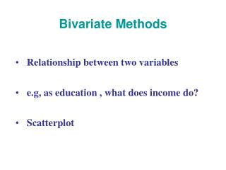 Bivariate Methods