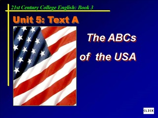 The ABCs  of  the USA