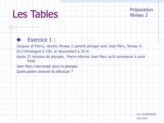 Les Tables