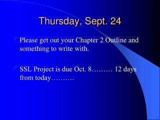 Thursday, Sept. 24