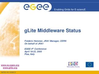 gLite Middleware Status