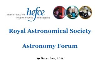 Royal Astronomical Society Astronomy Forum