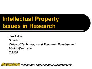 Intellectual Property Issues in Research