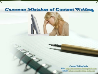 Common Mistakes of Content Writing