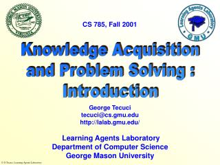 Knowledge Acquisition and Problem Solving : Introduction