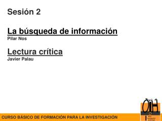 CURSO BÁSICO DE FORMACIÓN PARA LA INVESTIGACIÓN