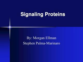 Signaling Proteins
