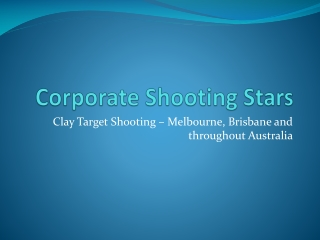 Corporate Shooting Stars