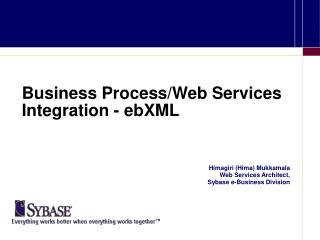Business Process/Web Services Integration - ebXML